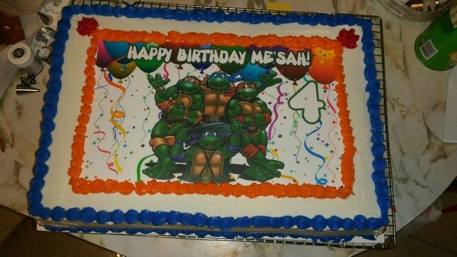 Another Ninja Turtle cake I made for my youngest grandson.