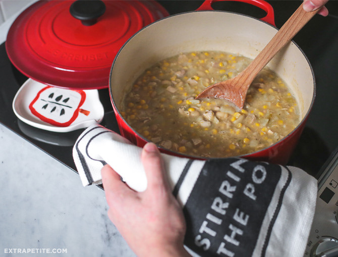 Easy White Chicken Chili Recipe // Sundays At Home - Extra Petite