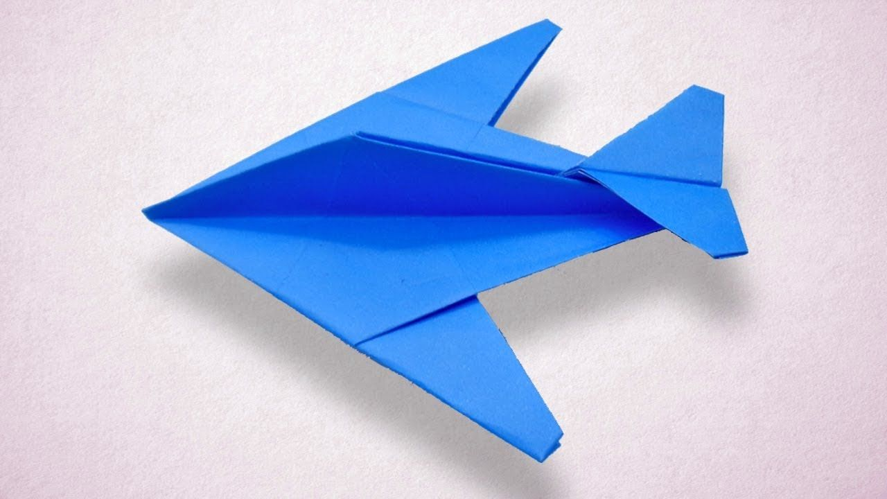 How To Make Paper Fighter Airplane Best Paper Jet Plane That
