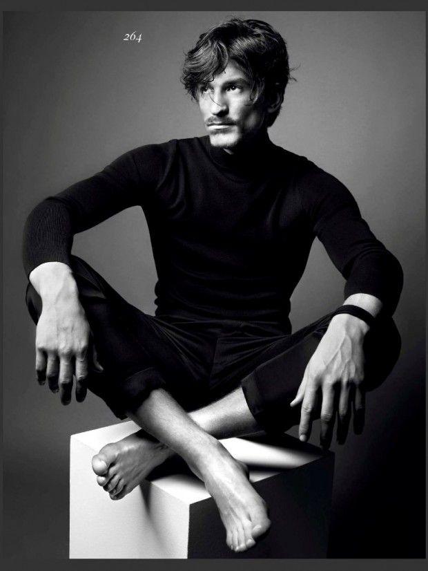 Jarrod Scott Strikes Charming Poses for Vogue Hommes