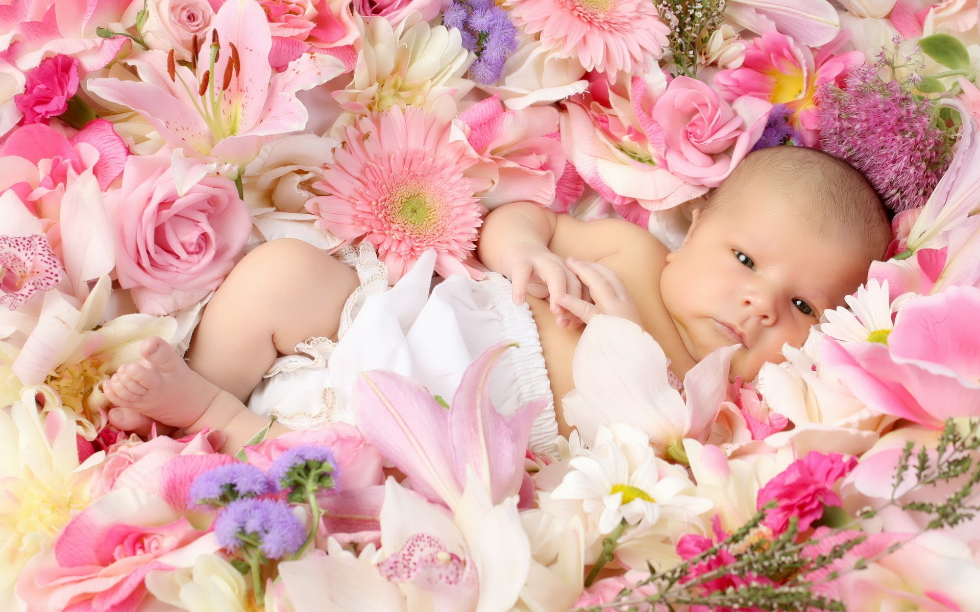 Image result for a baby with flowers