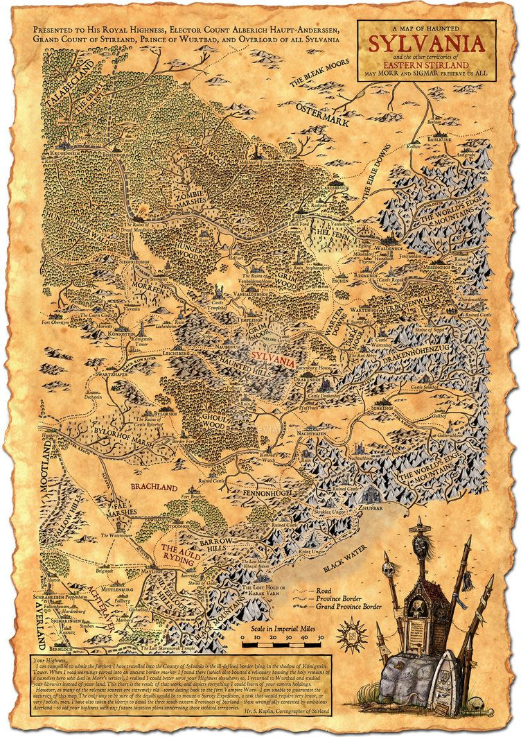 Warhammer Map : warhammer, Sylvania, 'Night's, Master', Fantasy, World
