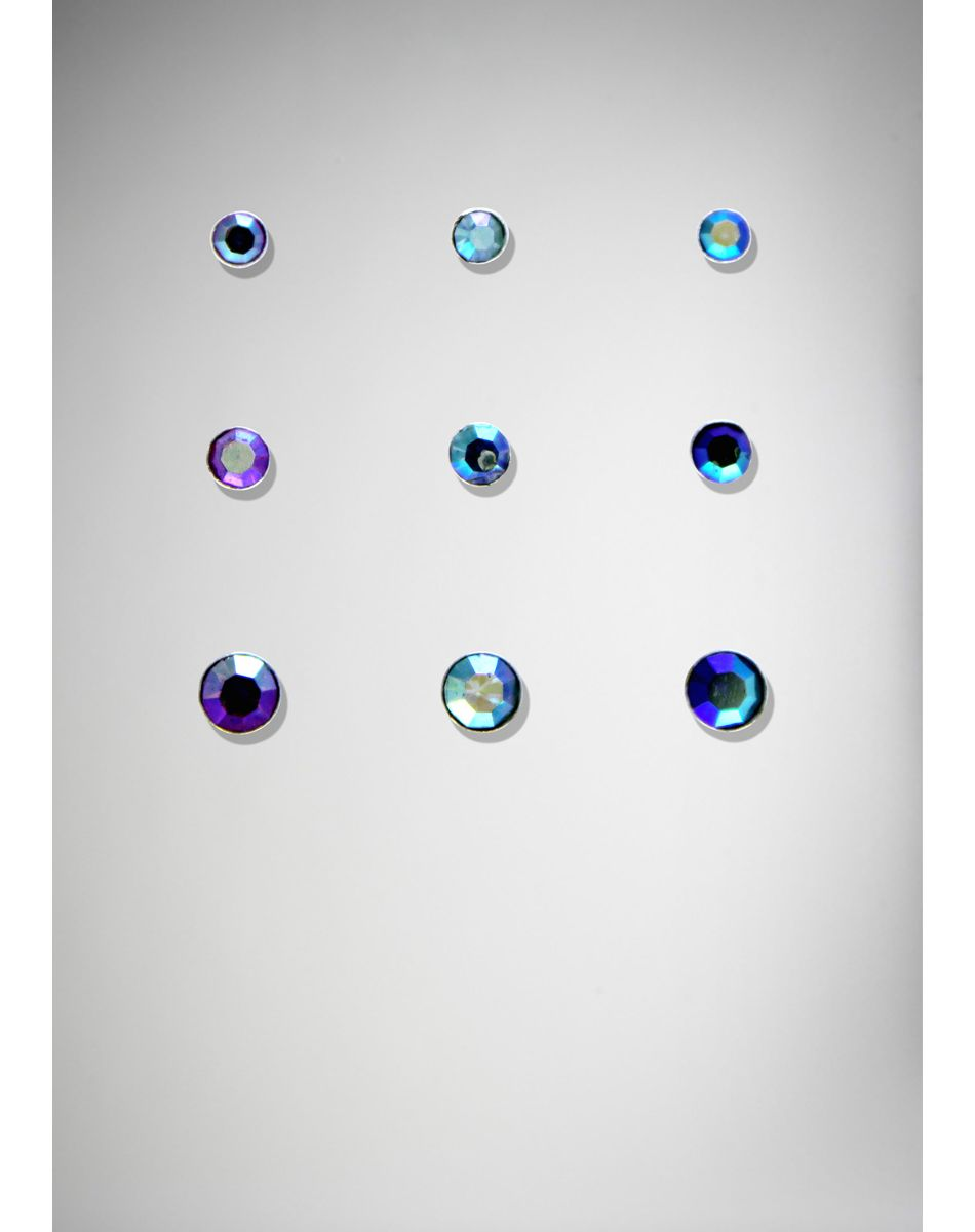 20 Gauge Purple And Blue Iridescent Nose Stud 9 Pk Gag Gifts
