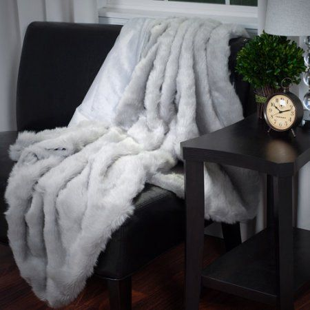 Walmart Throw Blankets Glamorous Somerset Home Luxury Long Haired Faux Fur Throw  Walmart  Home Review