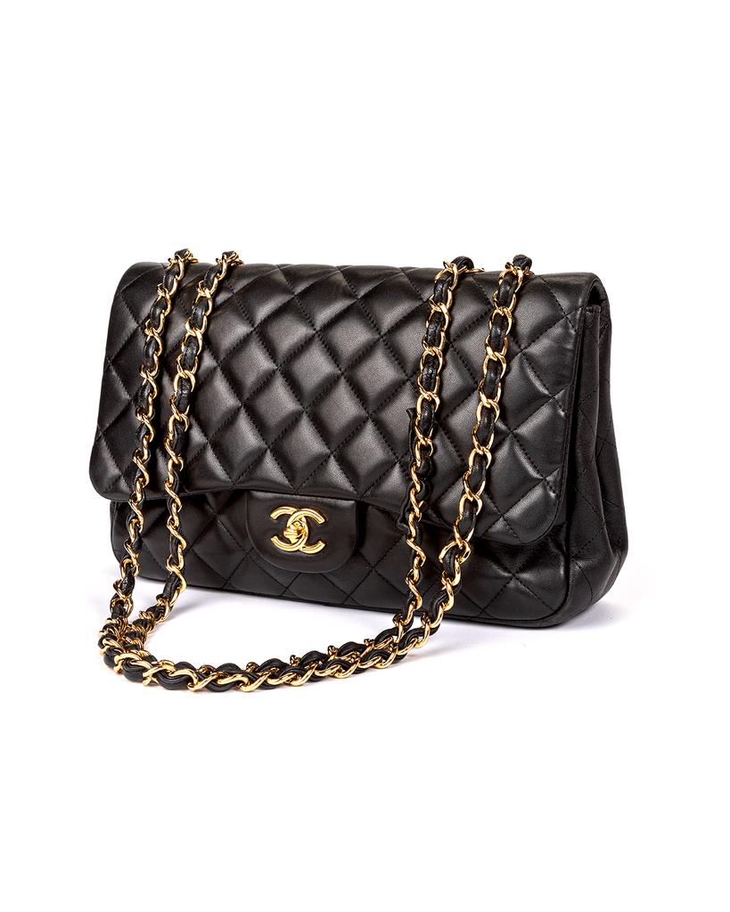 Chanel Black Quilted Lambskin Large Single Flap Chanel Bag Designer Handbags Chanel Chanel Handbags Black