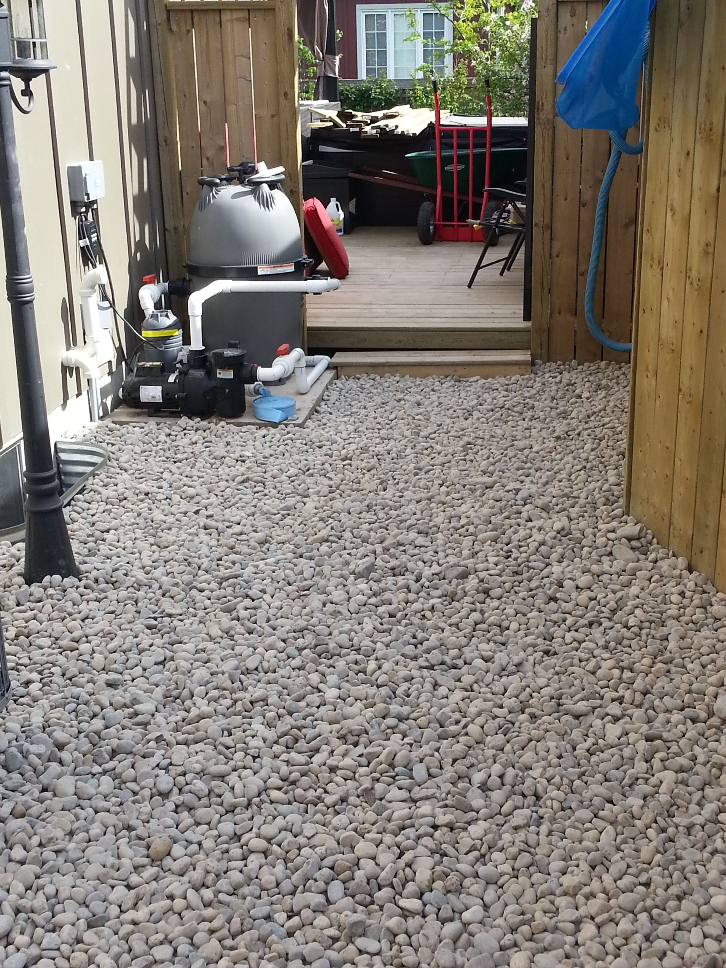Dog Run With River Rock By Your Home Genius Dog Area Dog Kennel New Homes