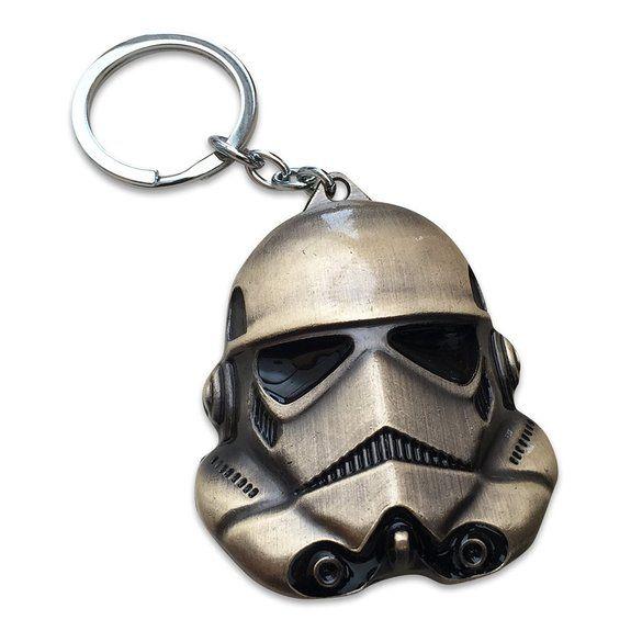 Gro§e Bronze-Farbe Metall. Star Wars Stormtrooper Halskette