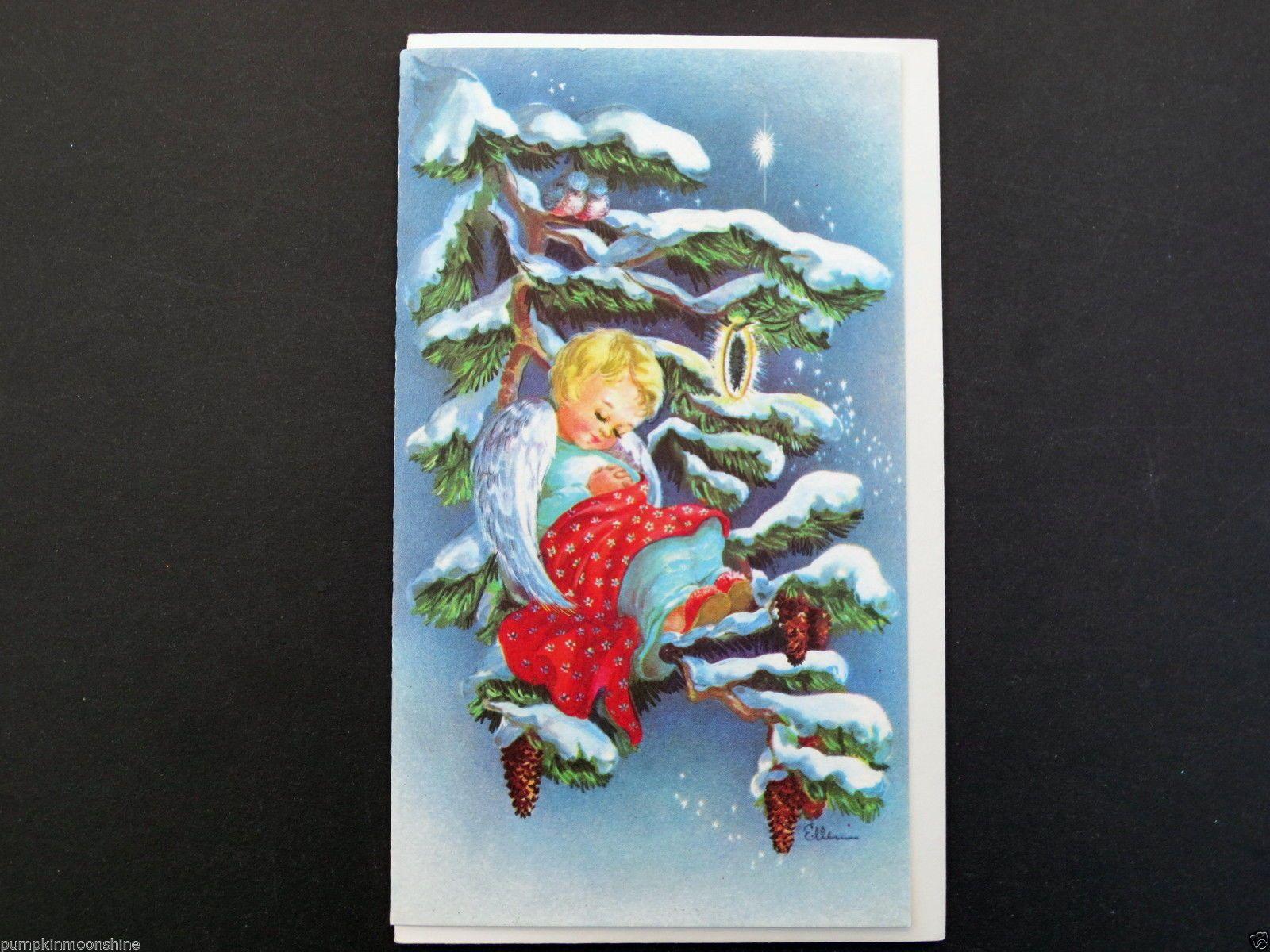Vintage unused red farm studio xmas greeting card sweet angel vintage unused red farm studio xmas greeting card sweet angel sleeping on branch kristyandbryce Images