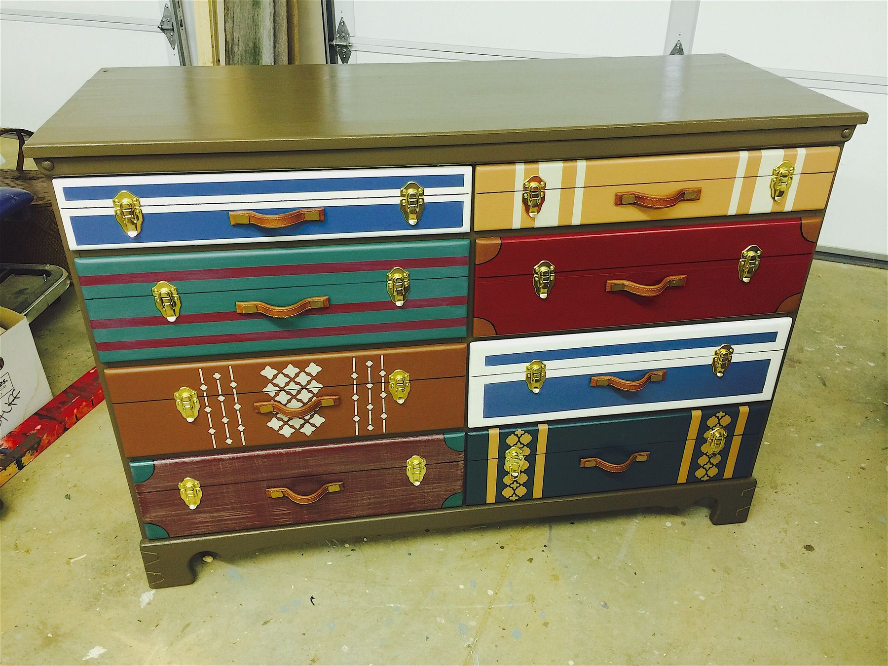 8 Drawer Luggage Chest Diy Furniture