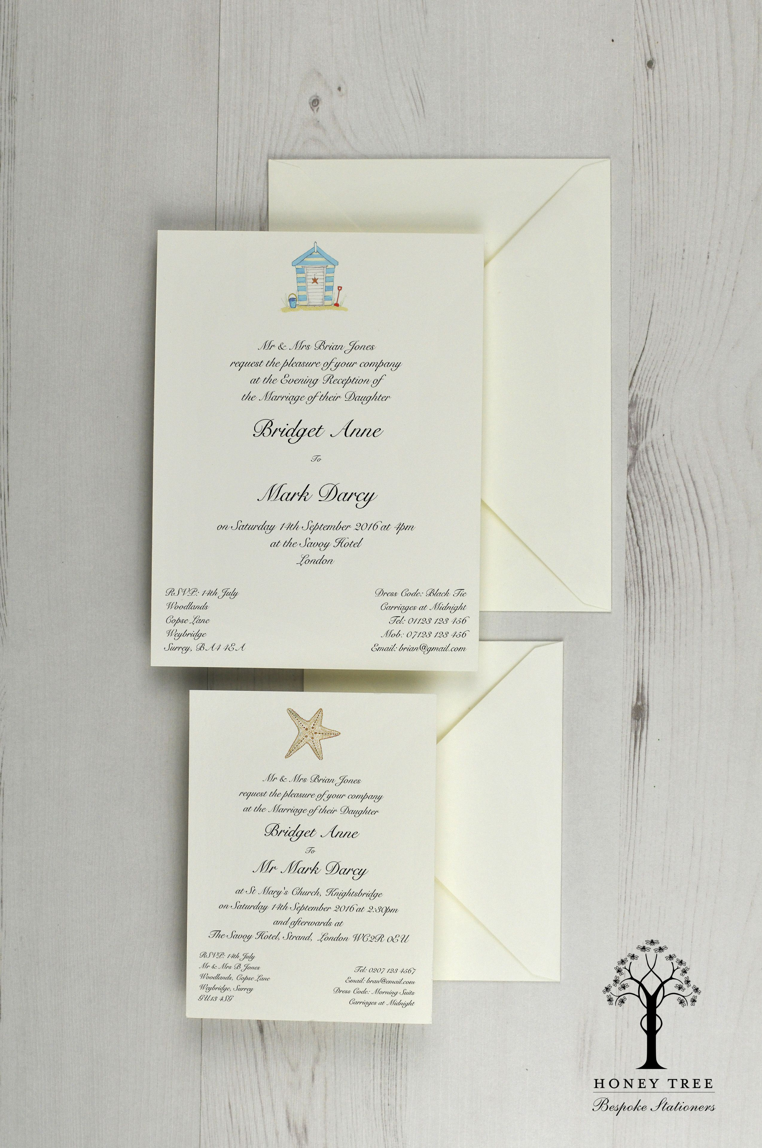 Wedding #Invitations with a #nautical #beach theme by the sea ...
