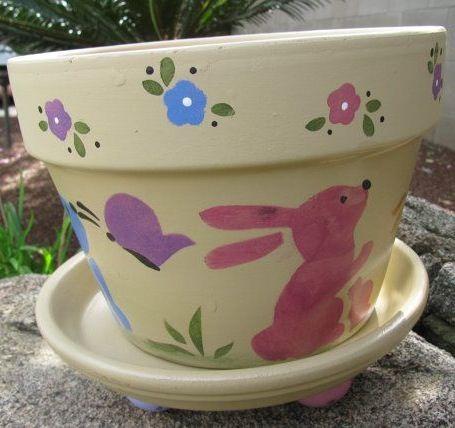Spring Easter Flower Pot Easter Flowers Easter Flower Pots Flower Pots