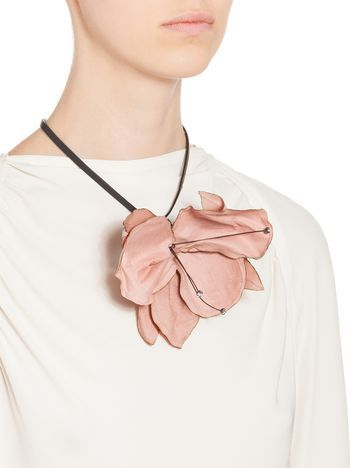 Leather Flower Necklace Marni Marni Jewelry Leather Necklace Marni Necklace