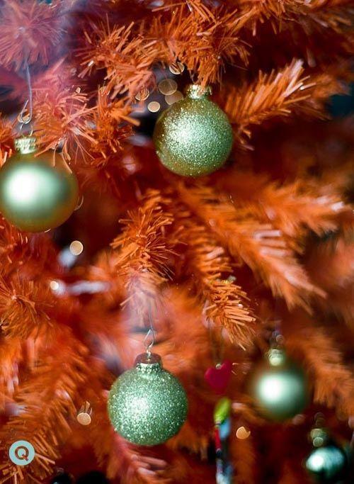orange christmas tree