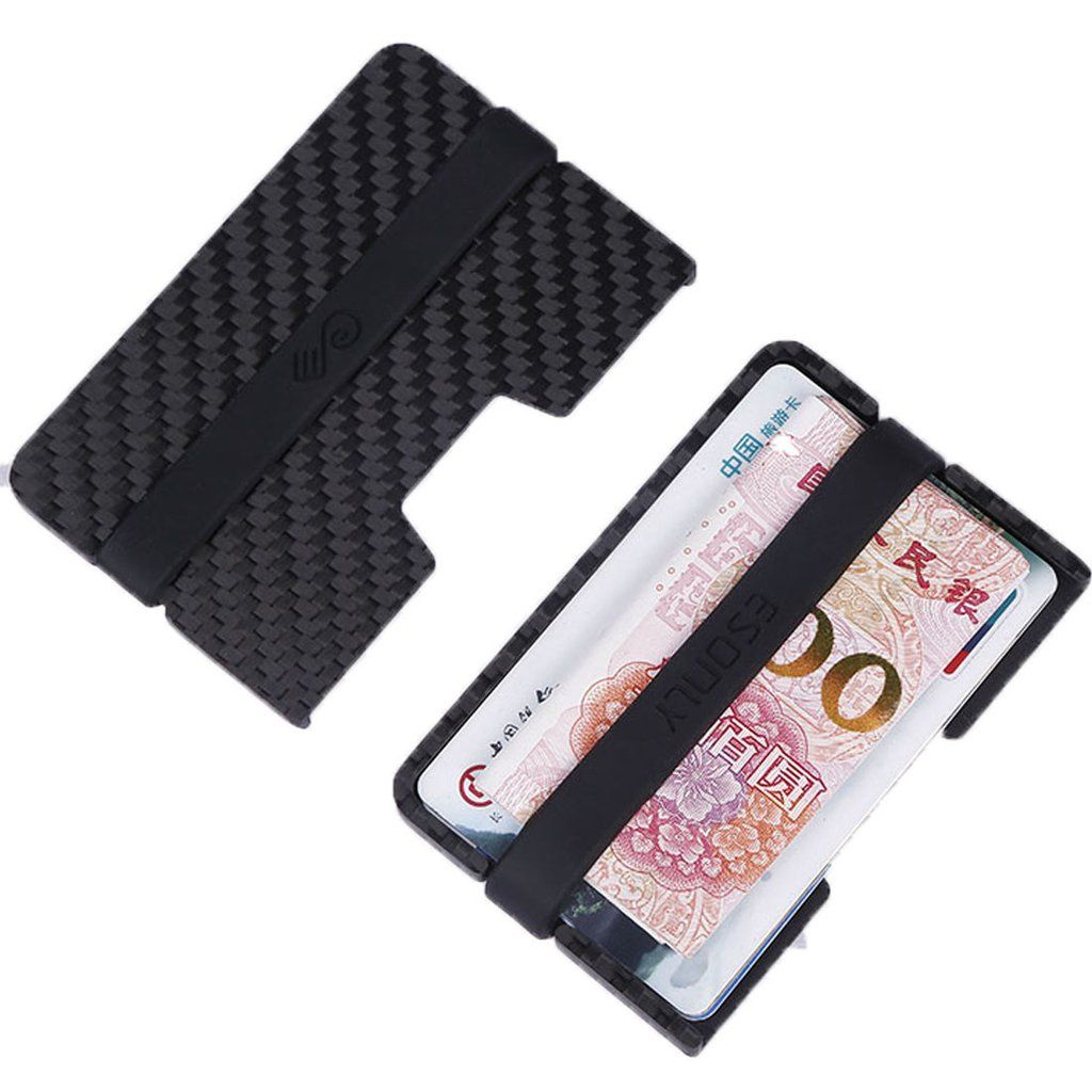 Tuopuke real carbon fiber made cardholder wallet 6mm thickness 5 tuopuke real carbon fiber made cardholder wallet 6mm thickness 5 6pcs cards silicone band magicingreecefo Gallery
