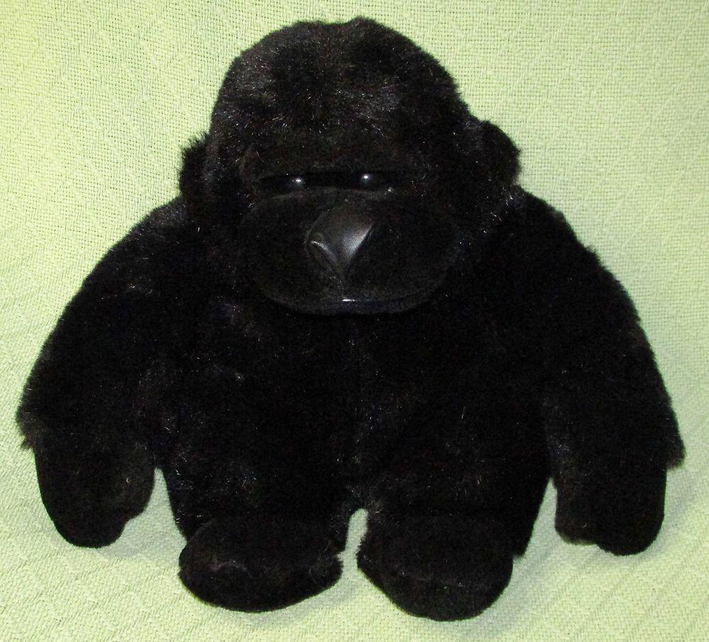 Gorilla Beta Toys 12 Black Realistic Plush Stuffed Ape Monkey