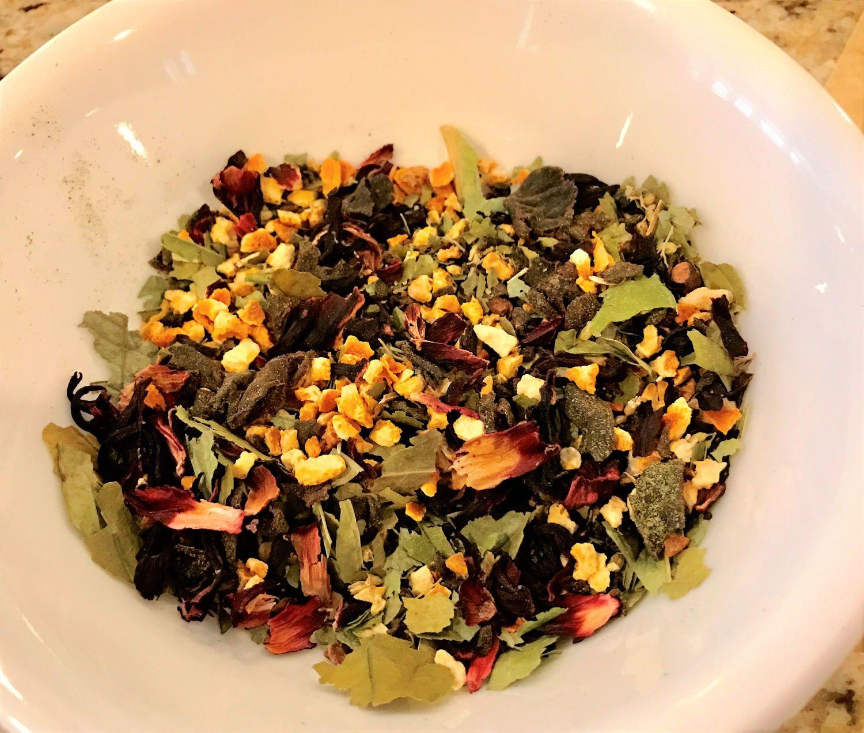 Blend gourmet herbal tea - Organic Herbal Tea Blend Guaviduca Garcinia Cambodia Yarrow Hibiscus Orange Handmade