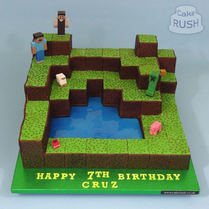 Minecraft cake brandys bday Pinterest Minecraft and ...