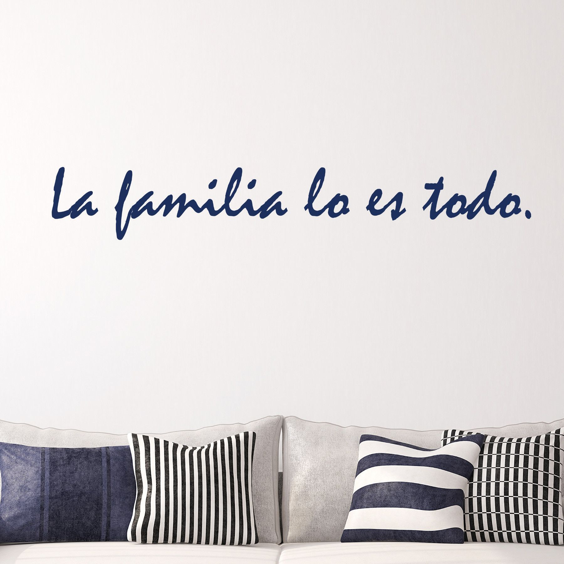 This spanish la familia wall quote translates to family is everything select the size and color that best fits your needs keep in mind sizes are close
