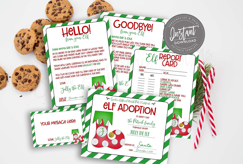 EDITABLE Elf Letter, Elf Arrival Note, Santa Letter