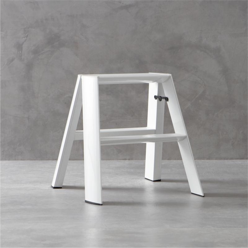 Marvelous Hasegawa® Lucano White 2 Step Stool
