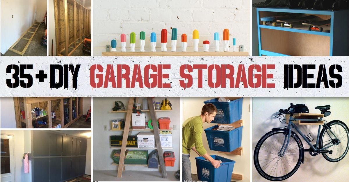 35 diy garage storage ideas to help you reinvent your garage on a 35 diy garage storage ideas to help you reinvent your garage on a budget solutioingenieria Choice Image