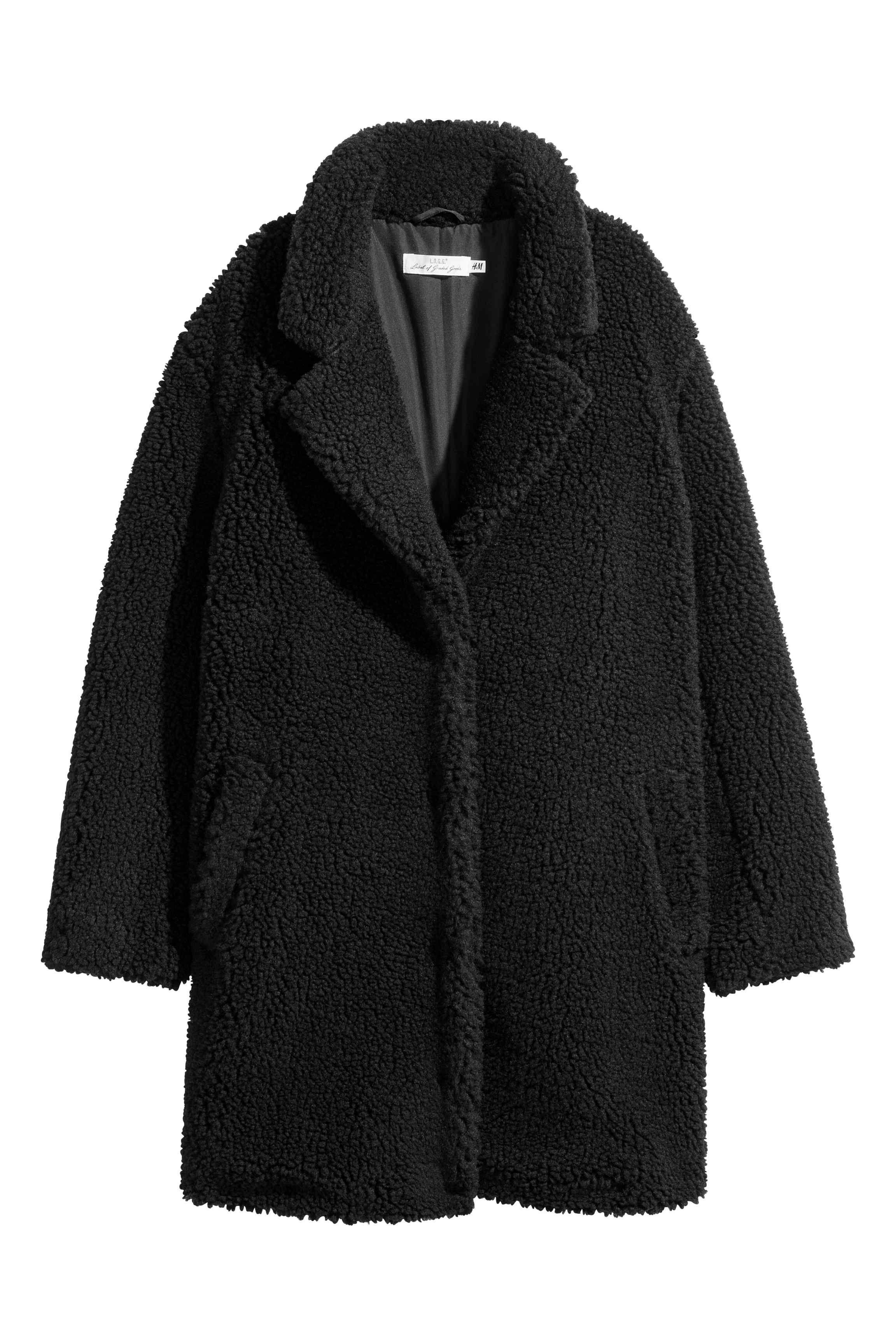 Manteau en peluche Noir FEMME | H&M FR