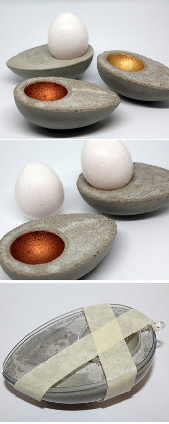 DIY Eierbecher aus Beton in Eierform einfach selber machen + Anleitung
