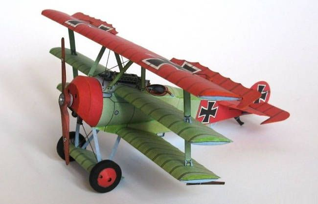 Wwi Fokker Dr I Ver 6 Free Aircraft Paper Model Download Http Www Papercraftsquare Com Wwi Fokker Dr I Ve Paper Models Paper Crafts Paper Airplane Template