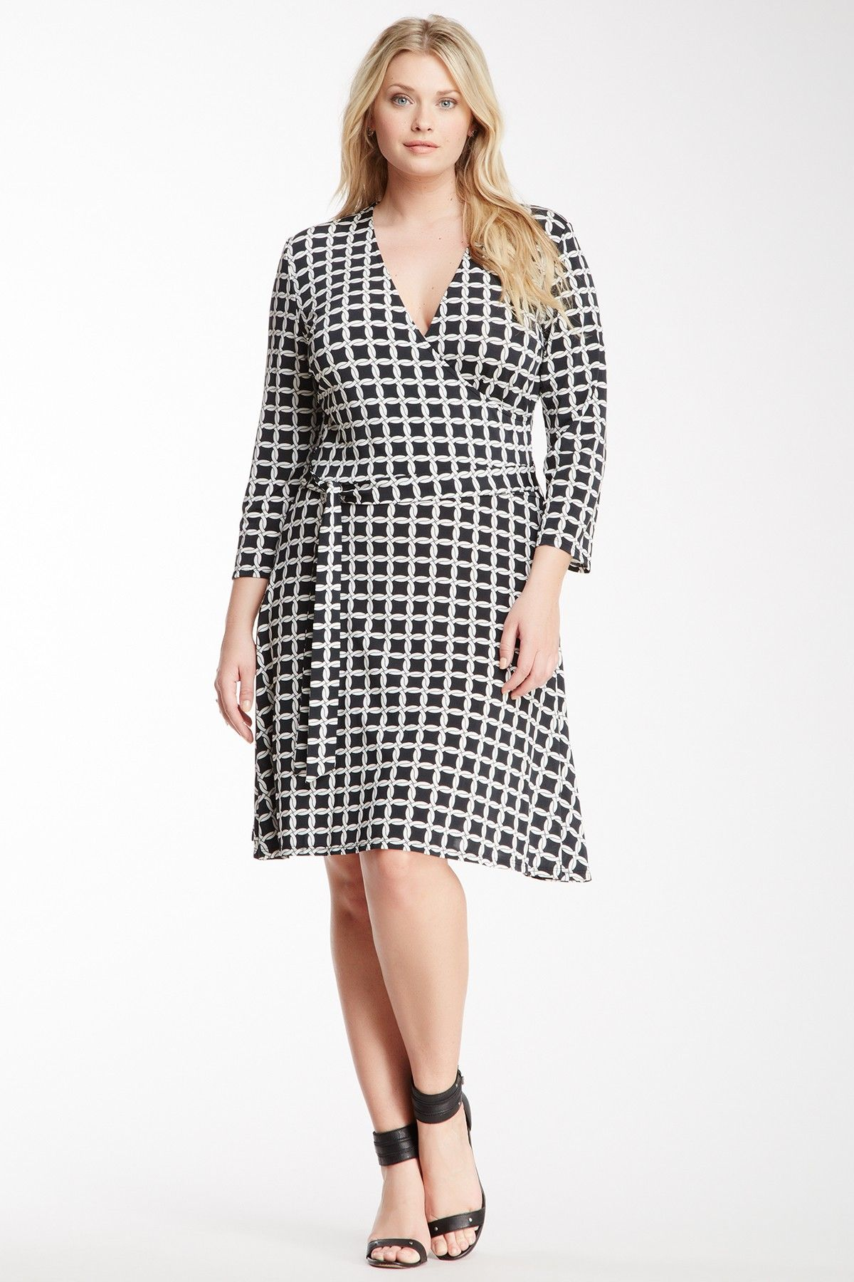5426446852 Leota Print Long Sleeve Perfect Wrap Dress - Plus Size by Leota on   nordstrom rack