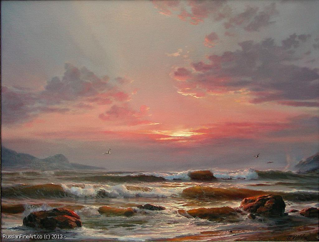 Seascape 9 Oil Canvas Landscape Paintings Seascape Paintings Ocean Art