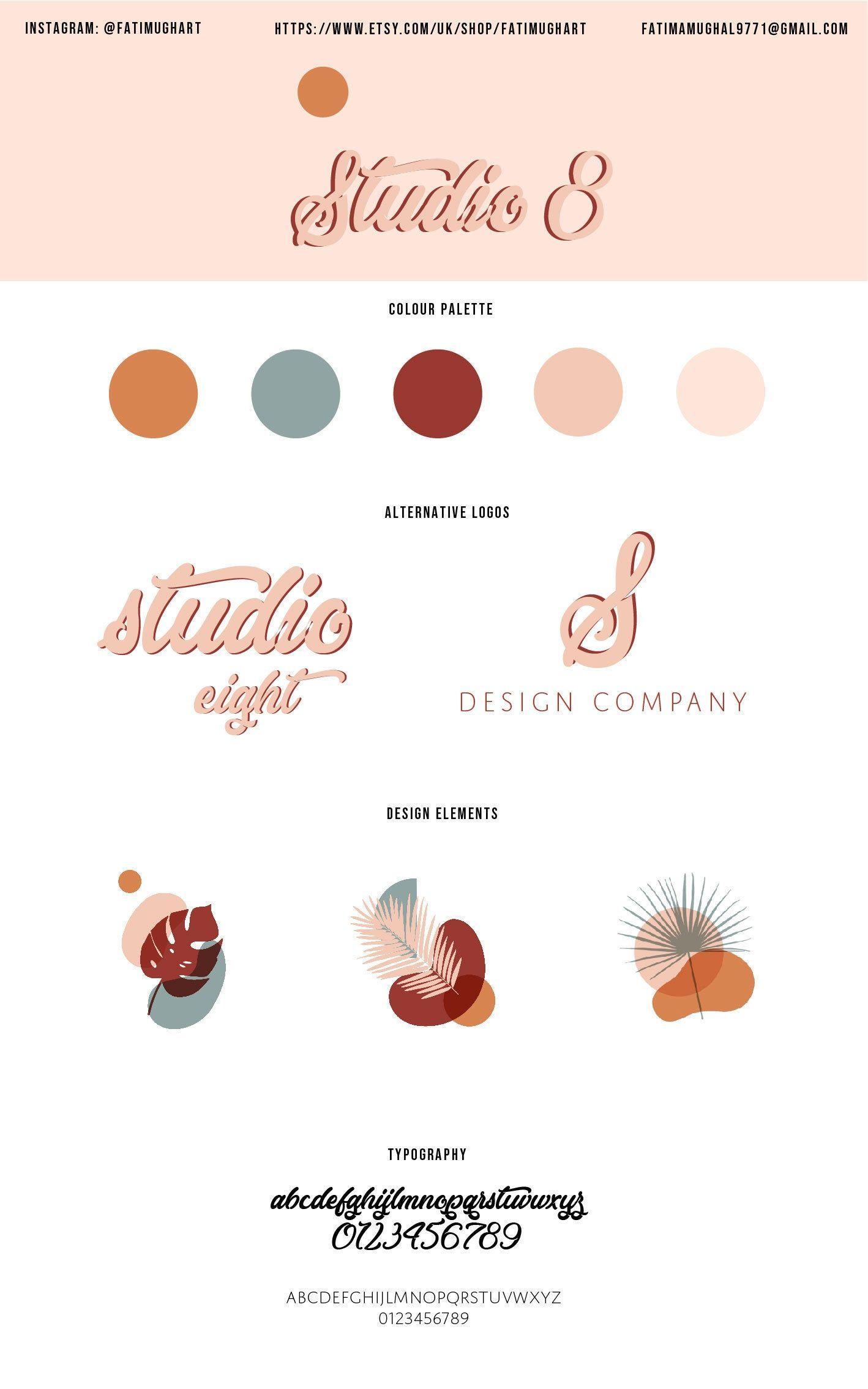 Custom Logo Design Branding Business cards Minimalist | Etsy