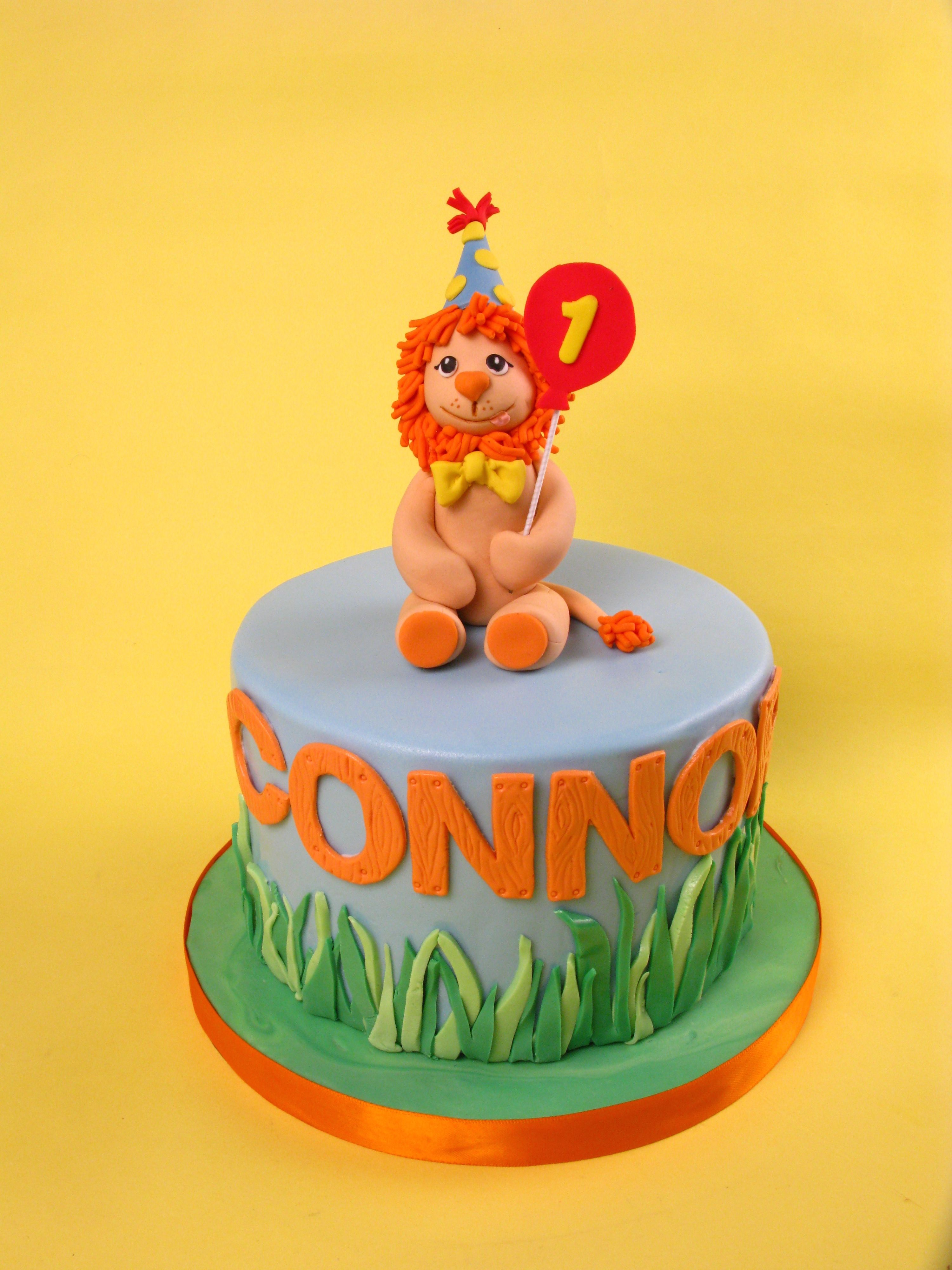 one year old cake first birthday cake lion cake lion cake