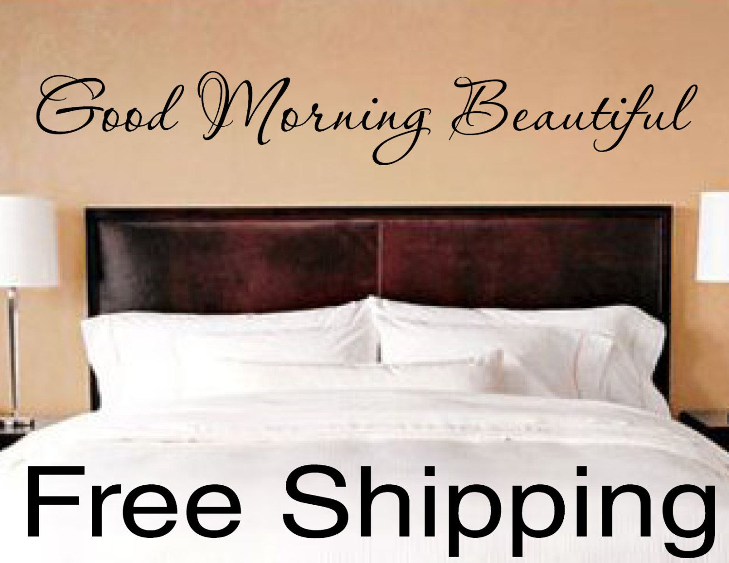 good morning beautiful vinyl wall decal sticker romantic quote good morning beautiful vinyl wall decal sticker romantic quote love art 40 x 5 75