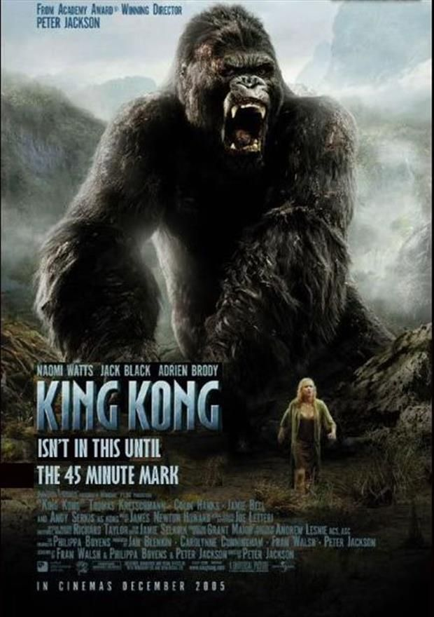 king kong funny movie poster
