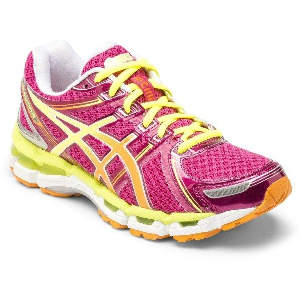 Asics Gel Kayano 19 Womens Running Shoes Pink Yellow Running Shoes Asics Running Shoes Womens Running Shoes