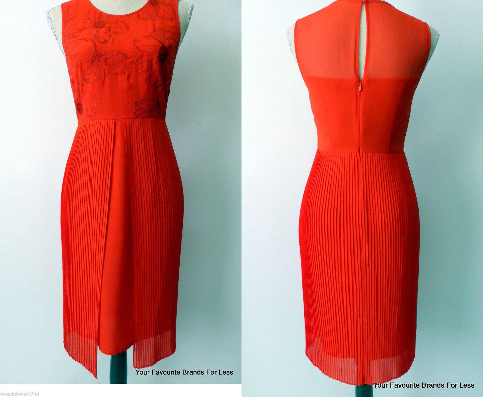 Red dress size 8 ebay