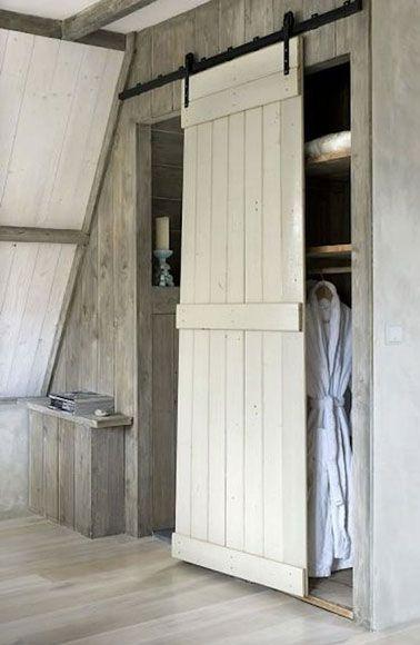 Déco récup  6 façons de créer une cloison coulissante Doors, Barn - creer une porte coulissante