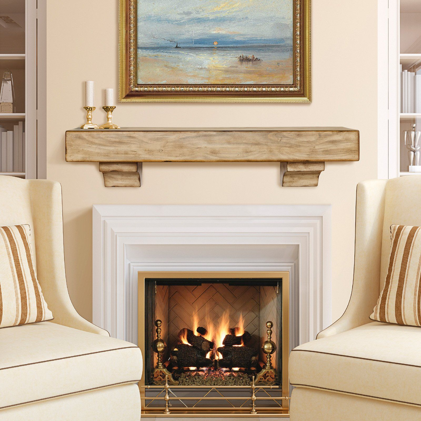 Have to have it. Pearl Mantels Tuscany Distressed Mantel Shelf ...