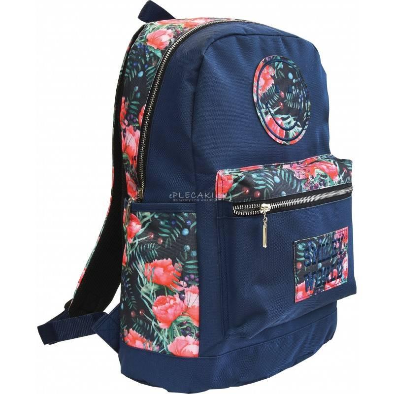 Plecak Miejski Mlodziezowy Emotka I Roze Smiley World Flowers Bags Backpacks Vera Bradley Backpack