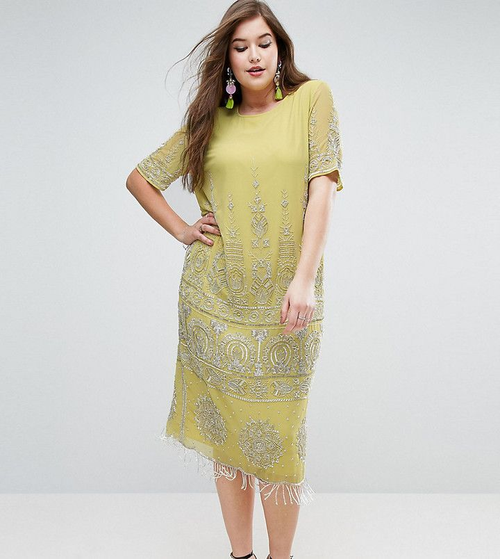 Kleid gold midi