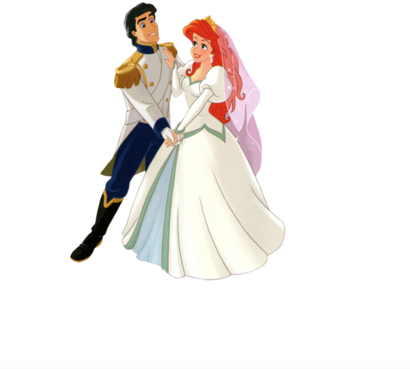 Ariel and Prince Eric on their Wedding Day Ariel and Prince Eric