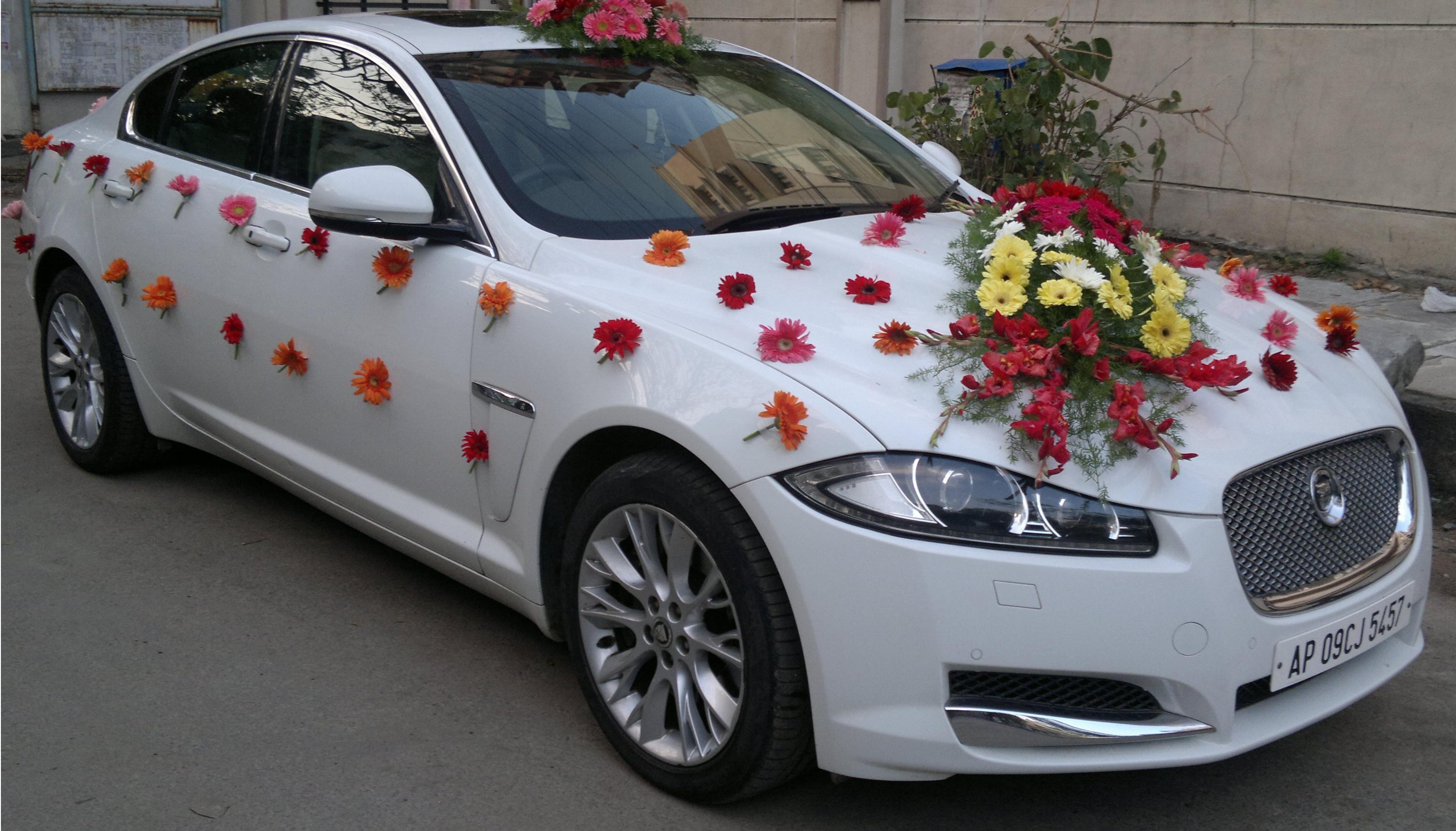 Wedding Car Decoration Wedding Car Decorations Bridal Car Wedding Car