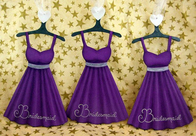 Purple & Silver Dress Ornament - Bridesmaids | Pinterest | Black ...