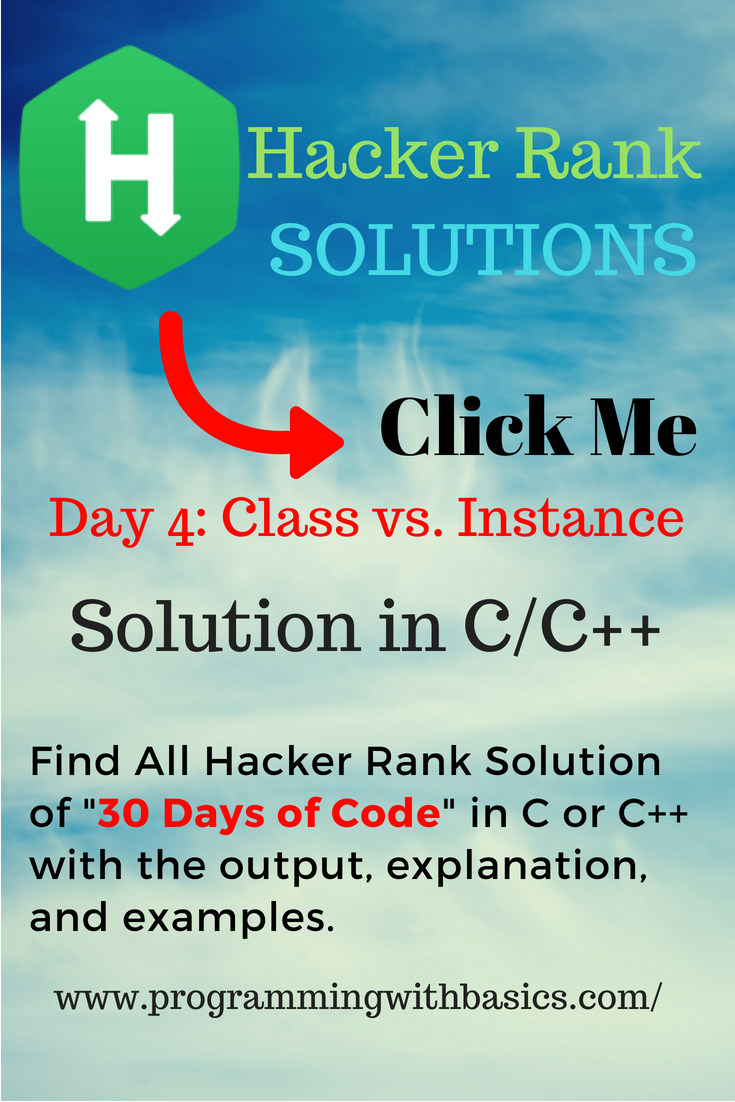 Hackerrank Solution For Day 4: Class vs  Instance | HackerRank