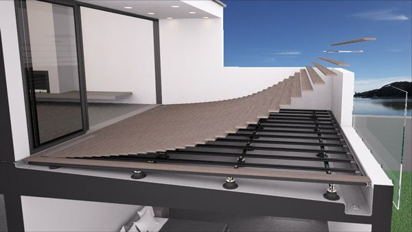 Floating Deck Over Membrane Roof Top Deck Deck On Top Of