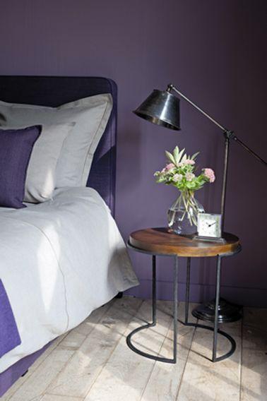 Couleur peinture chambre violet Flamant Bedrooms - Peindre Table De Chevet