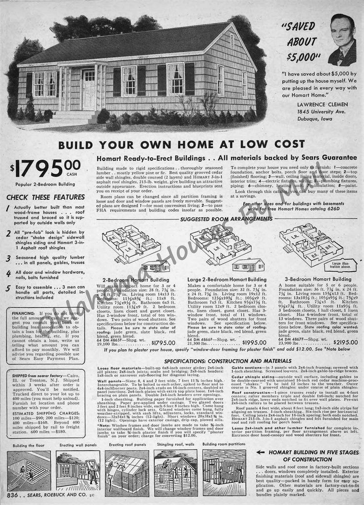 Sears Spring 1950 Build Your Own House Homart Kit Homes