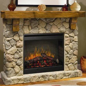 Amazon.com: Dimplex Fieldstone Indoor Electric Fireplace Package - Natural Stone: Home & Kitchen