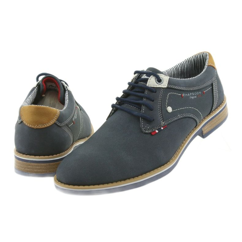 American Club Polbuty Buty Meskie Wiazane Rhapsody Rh08 Brazowe Granatowe Classy Shoes Boots Mens Wingtip Shoes Clarks Shoes Mens