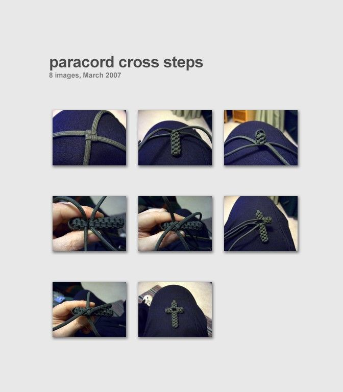 Stormdrane's Blog: Paracord Cross
